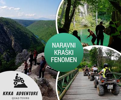 Krka Adventure, Narodni park Krka: quad izlet za 2