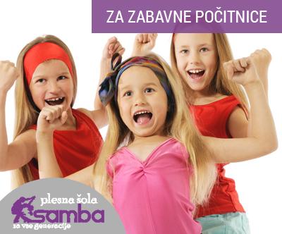 Plesna šola Samba: poletno varstvo otrok