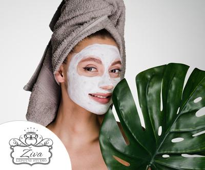 Lepotni studio Živa: nega obraza za napeto kožo, 70 min