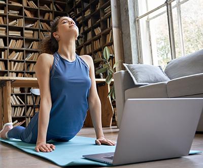 Online tečaj pilatesa in joge: 6x pilates, 2x joga