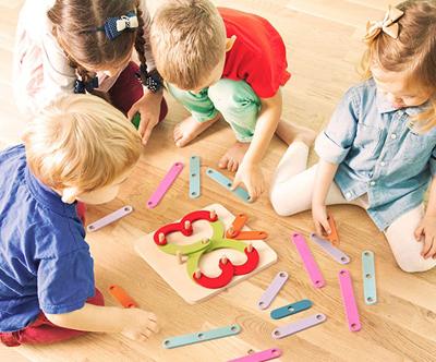 Lesena otroška didaktična igra