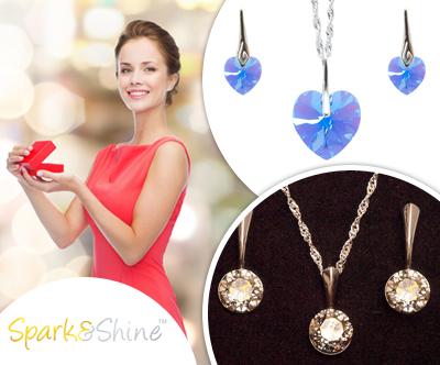 Cudovit set nakita s kristali Swarovski® po izbiri