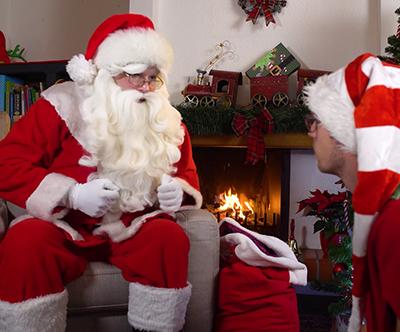 Video zgodba Božička, Dedka Mraza ali Miklavža za otrok