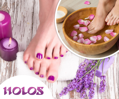 Salon Holos: pedikura s kopeljo in masažo stopal